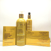 Lemon Glow Ultimate Lightening Set of Milk, Soap, Cream, Gel, and Serum.