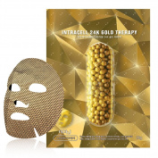 NOHJ Intracell 24K Gold Sheet Mask 10 Sheets Natural Ingredients Ample Essence Special Gold Sheet Gold Therapy