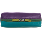 Leather Oblong Cosmetic Make-up Case