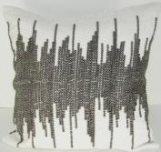 Ivory NYC Shore Velvet - 50cm x 50cm . Pillow