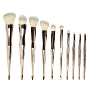 Mermaid Makeup Foundation Brushes for Smooth Makeup Application, Luxury Gift 10 Pcs Mermaid Concealer Brush Set Cosmetics Synthetic Face Brushes Perfect Starter Kit Cream Contour Foundation Powder