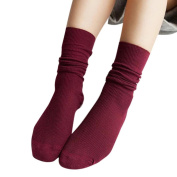 OVERMAL Fashion Girls Womens Soft knitting Socks Casual Cotton Middle Tube Socks