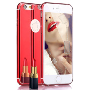 iPhone 6S Case, iPhone 6 Case, PHEZEN [Fusion Mirror] Bright Reflection Radiant Luxury Electroplated Bumper Slim Hard PC Back Mirror Anti-Scratch Case Cover For iPhone 6/6S 12cm ,Red