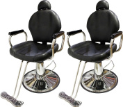 TMS LOT 2~All Purpose Reclining Hydraulic Barber Chair Salon Beauty Shampoo Equipment
