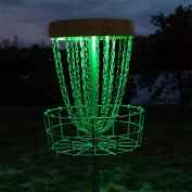 Set of 2 LED Lights for Disc Golf Basket, Multi Coloured, Remote Controlled, Waterproof, Basket Not Included