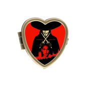 RttaBee Custom Natalie Portman Guy Fawkes V Personality Heart-shaped Pill Box Pill Case Medicine Organisers or Purse
