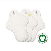 25cm Coloured Organic Cotton Medium Flow Pads / Cloth Pads Menstrual Set / Cloth Sanitary Napkins / Cloth Menstruation pads - 3 Medium pads (Regular pads)