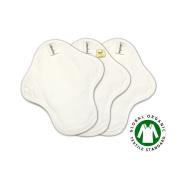 20cm Coloured Organic Cotton Light Day Flow Pads / Reusable Cloth Menstrual Pads set / Light Flow Pads / Cloth Sanitary Napkins - 3 Light day pads (Small pads)