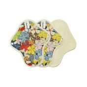 20cm Light day pads / Reusable cotton cloth menstrual pads set / Cloth pads starter - 3 Light day pads (Small pads)