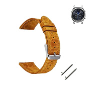 Allywit Replacement Retro Genuine leather Watch Bracelet Strap Band For Samsung Gear S3 Frontier
