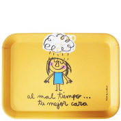 laroom 14127 Table Tray - At the wrong time your best face, Orange
