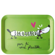laroom 13923 Table Tray - For You I Will Be Flexible, Green