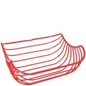 laroom 13494 - Fruit Basket Metal Minimal, Red