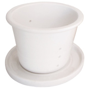 laroom 13646 - Tea infuser and lid for the cups laroom, White