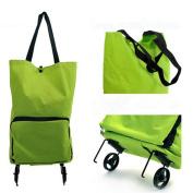 JOYOOO Women Folding Shopping Cart Trolley Bag oxford NEW shopping trolley bag on wheels canvas shopping bag