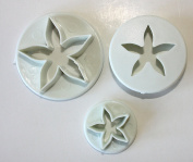 Calyx Cutters, Set of 3, Small, Flower Cutters, Cake Decorating, Sugarcraft