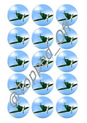 """15 x 2"""" (5cm) pre-cut Spitfire round fondant icing edible mince pie topper decorations by Topped Off"""