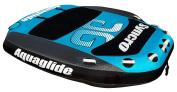 Aquaglide Synchro 4 Pulled Float with Backrest Black/Blue