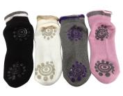 2 or 3 or 4 Pairs Non Slip Skid Winter Yoga Socks with Grips Cotton Silicone Dot sock for Women Ballet socks Pilates socks BigNoseDeer …