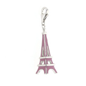 Eiffel Tower, Silver and Enamelled Eiffel Tower Charm for Charm Bracelets