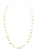 Freshwater Pearl White Necklace 14k Yellow Gold Beads