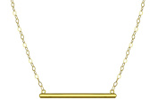 10k Yellow Gold Bar Necklace
