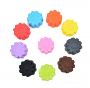 Ewandastore 10pcs 5.1cm Silicone Sun Flower Muffin Cookie Cup Cake Egg Tart Cup Baking Mould Chocolate Pudding Jelly Soap Maker Mould