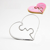 Astra Gourmet Heart Puzzle Cookie Cutters Stainless Steel Biscuit Moulds Egg Bread Cutter Baking Tools