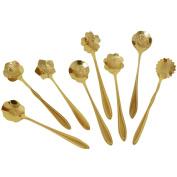 . Tableware Creative Flower Coffee Spoon,Sugar Spoon,Stirring Spoon,Mixing Spoon,Tea Spoon,Gold