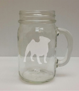 Pug Breed Pride 470ml Glass Mason Jar - Hand Etched - Made in the USA, Great for gifts