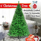 NEW 1.5m 1.8m 2.1m 2.3m White Classic Pine Christmas Tree Artificial Realistic Natural Branches-Unlit With Metal Stand