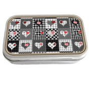Patchwork Design Slim Hinged 30ml Tin Tobacco Storage