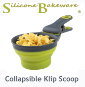 Mister Chef New Collapsible Klipscoop 2in1 Scoop and Packet Sealer, Green