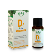 Baby Vitamin D3 Drops 400 IU | Daily Liquid Vitamin D3 for Babies - 3rd Party Tested & Guaranteed for Quality - Non-GMO, Tasteless & Odourless Drops with NO Sugar, Additives, or Preservatives