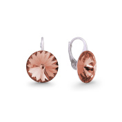 Exclusive ® chrystals in Ana Morales Woman´s earrings 925 Sterling silver