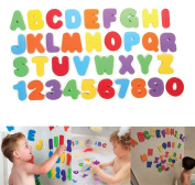 Vivian 36pcs Bath Tub Foam Letters Numbers Set Educational Learning Shower Bath Toys