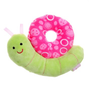 GIFTSHOP101 13cm Cute Snail Soft Plush Baby Rattle - Pink