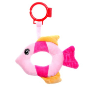GIFTSHOP101 15cm Umpha Fish Soft Plush Baby Rattle - Pink