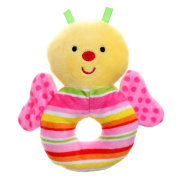 GIFTSHOP101 13cm Cute Butterfly Soft Plush Baby Rattle - Pink