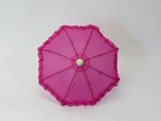 46cm Doll Sized Super Cute Magenta Umbrella for 46cm Dolls, Handle Loop, Open & Closes, Perfect Toys Fits for American Girl Dolls, Gotz, Our Generation Madame Alexander Miniature Umbrella