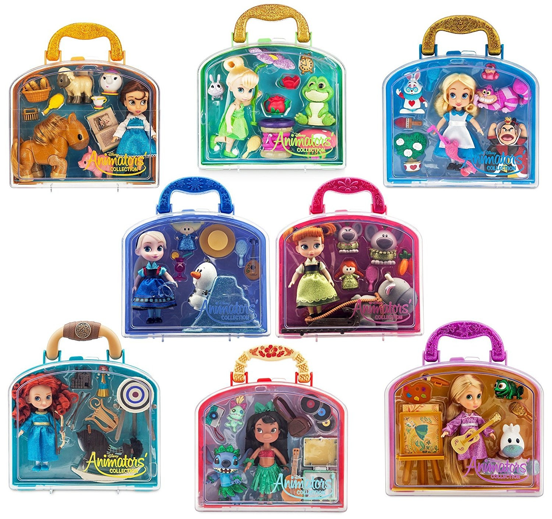 7cb2c1b2ea8 Disney Anna-Elsa-Belle-Rapaunzel-Alice-Tinker Bell-Merida-Lilo Mini ...