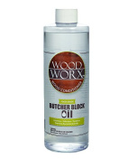 Wood Worx Butcher Block and Cutting Board Oil Conditioner, 470ml Bottle, 100% Mineral Oil