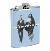 Walken with Jesus Funny 240ml Stainless Steel Flask Drinking Whiskey