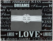 Words of Love - Glass Frame Favour - 1