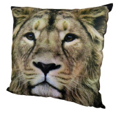 Decorative Pillow Cushion Throw Case Cover Polyester 15 x 15 Lion Brown 4549131354683