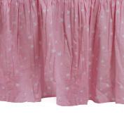 Zack & Tara Crib Skirt - Stars in Pink