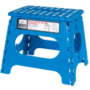 Acko Blue 28cm Non Slip Folding Step Stool for Kids and Adults with Handle, Holds up to 110kg