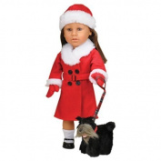 CP Toys Today's Girl 3 Piece Holiday and Hat Clothing Set with Scottie Dog on Leash for 18 Doll by CP Toys