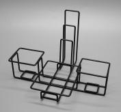 Fixture Displays Wire Condiment Caddy w/ Menu Holder - Black 19692