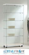 glass showcase display LL ofel8/18 80 x 40 x 181 cm Made in Italy